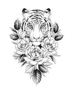 Tatuajes # sunflower_tattoo_black_and_whi . Tatuajes # sunflower_tattoo_black_and_whi . Black Tattoos, Body Art Tattoos, Small Tattoos, Tattoos For Guys, Leopard Tattoos, Rose Tattoos, Forearm Tattoos For Women, Lower Leg Tattoos, Small Animal Tattoos
