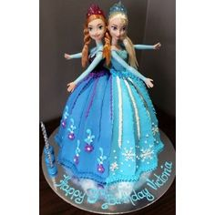 Elsa and Anna Doll cake, South Morang