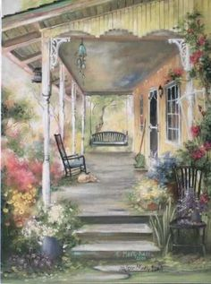Patricia's Porch by Marty Bell
