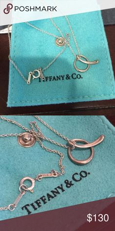 """Authentic Tiffany """"a"""" sterling silver necklace Authentic Tiffany """"a"""" sterling silver necklace. Great condition, but could use a polish. Tiffany & Co. Jewelry Necklaces"""