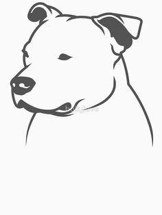 'Staffbull Staffordshire Bullterrier HEAD only' T-Shirt by bullylove Staffy Dog, Animal Sketches, Animal Drawings, Art Drawings, Tatoo Books, Yorkshire Terrier Puppies, Yorkie Puppies, Bull Tattoos, Stickers