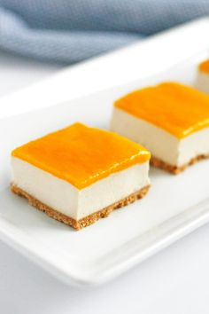 Sweet, tangy, tart, and creamy, these vegan mango cheesecake bars serve as a delicious reminder that spring is here and summer is on its way.
