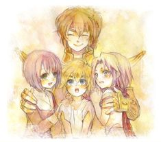Saint Seiya, Saori, Aiolos, Aiolo and Mu