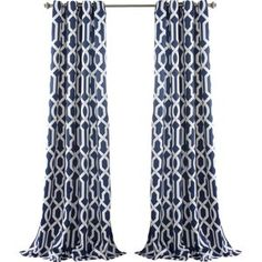 Bastian Trellis Thermal Curtain Panel (Set of 2)