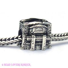 Yosemite Ahwahnee Hotel Landmark Bead Sterling compatible with PANDORA and other European Bead bracelets, $32.00