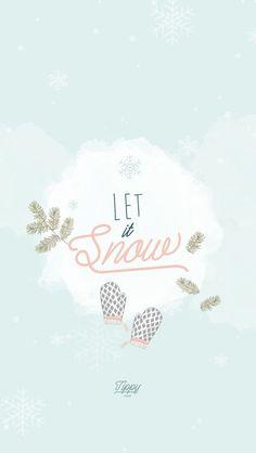 Snow Christmas New Year iPhone Lock Wallpaper Luna PanPins