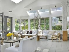 An incredible amount of natural lighting throughout the family room make this space bright and airy. 8047 Woodrow Wilson Dr | Sunset Strip/Hollywood Hills West