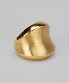 Take a look at this Gold Ring by Regal Steel on #zulily today!