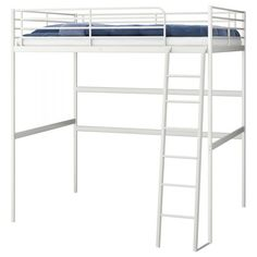 Delicieux TROMSÖ Loft Bed Frame With Desk Top, White Length: 198 Cm Distance From  Floor To Bed Base: 164 Cm Width: 141 Cm