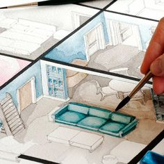 Love Drawing and Design? Finding A Career In Architecture - Drawing On Demand Interior Architecture Drawing, Interior Design Renderings, Interior Design Portfolios, Drawing Interior, Interior Rendering, Interior Sketch, Architecture Portfolio, Architecture Plan, Geometric Sculpture