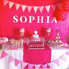 Party Ideas: Pink Spots and Stripes Themed Girls First Birthday