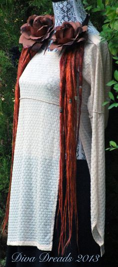 Mixed Crimson Dread Lock Falls by DivaDreads on Etsy, $85.00