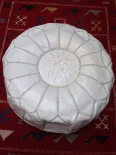 Handcrafted white leather pouf Leather ottoman with by nourleather, Leather Pouf, Leather Ottoman, White Leather, Beautiful Homes, Trending Outfits, Unique Jewelry, Handmade Gifts, Etsy, Furniture