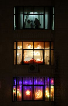 Looking through night windows of the West Bank, Ramallah, decorated windows for the upcoming month of Ramadan Night Window, Ramadan Decorations, Slice Of Life, Eid Gift, Windows, Lights, Islam, Gift Ideas, Fun