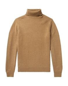 Todd Snyder Sweater With Zip In Camel Roll Neck Sweater, Men Sweater, Todd Snyder, Mens Style Guide, Knitwear, Turtle Neck, Mens Fashion, Camel, Zip