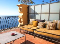 Located on a cliff rising high above the Ionian Sea, San Domenico Palace Hotel commands views of the ancient Greek theater to one side, the . Outdoor Sofa, Outdoor Furniture, Outdoor Decor, Ancient Greek Theatre, Palace Hotel, Sicilian, Cliff, Theater, San