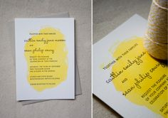 Constellation & Co. wedding invite. Love the wash of color.