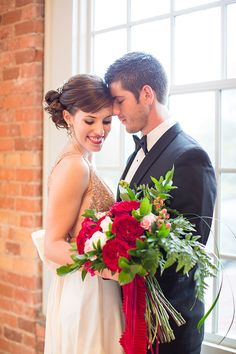 red and gold new years wedding