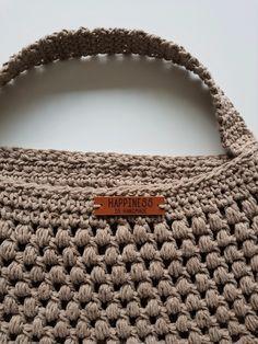 Leuke haaktas en patroon Crochet Patterns For Beginners, Knit Patterns, Diy Bags Purses, Crocodile Stitch, Shopper Bag, Loom Knitting, Knitting Ideas, Craft Stick Crafts, Jute