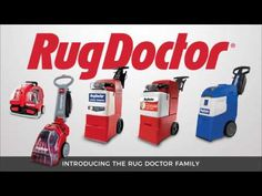 Rug Doctor Carpet Cleaning Machines - YouTube