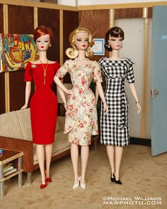 Vintage Barbies at home
