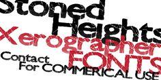 Stoned Heights Font   dafont.com
