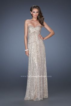 4d5f4ca599 B the golden standard in this La Femme 19299 gown! This dress has a sweetheart  neckline