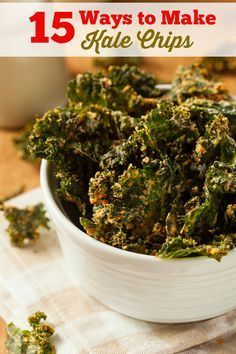 """15 Ways to Make Kale Chips"" - from Simply Stacie #kalechips"