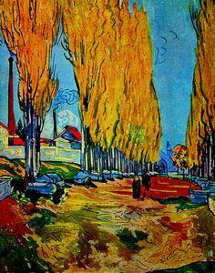 Impressionist painting Les Alyscamps Vincent Van Gogh art home decor Handmade High quality Vincent Van Gogh, Henri De Toulouse-lautrec, Van Gogh Arte, Van Gogh Pinturas, Georges Seurat, Art Van, Van Gogh Paintings, Edgar Degas, Post Impressionism