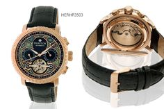 Men's Heritor Aura Watch - 3 Styles! deal in Women's Watches Get a statement Heritor Aura watch.  Choose silver, gold or rose gold.  Gorgeous cloisonné detailing for a unique twist on a classic dress watch.  Featuring genuine leather straps.  High quality automatic movement.  Day and date display sub-dials. BUY NOW for just £199.00