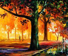 Das Licht der Nacht  Orange Nebel von AfremovArtStudio auf Etsy