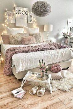 Cute Bedroom Ideas, Room Ideas Bedroom, Teen Bedroom, Bedroom Sets, Home Decor Bedroom, Teenage Bedrooms, Bed Room, Small Bedroom Designs, Cute Dorm Rooms