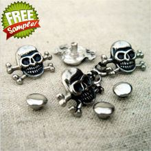 A047 22x16mm Wholesale high quality crossbones studs skull iron studs