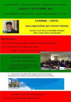 Avvisi parrocchiali 1 novembre 2015 Locandina Incontro Vescovo Musie