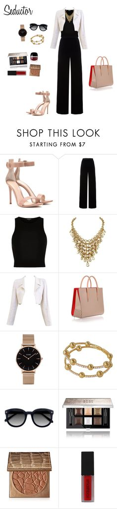 """For work"" by arimacias on Polyvore featuring moda, Gianvito Rossi, T By Alexander Wang, River Island, Chanel, Christian Louboutin, CLUSE, Ace, Givenchy y tarte"