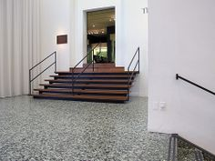 Houston Museum of Fine Arts - Mies Stair Railing, Stairs, Railings, Houston Museum, Ludwig Mies Van Der Rohe, Museum Of Fine Arts, Travel Usa, Interior, Texas