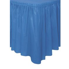 Plastic Table Skirts, 29-Inch by 14-Feet, Royal Blue