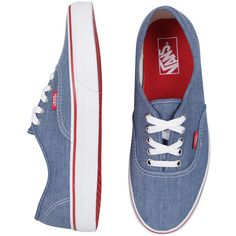 Vans Authentic Denim - Dark Blue ($46) ❤ liked on Polyvore featuring shoes, sneakers, vans, sapatos, zapatos, unisex sneakers, vans trainers, denim shoes, dark blue shoes and vans sneakers