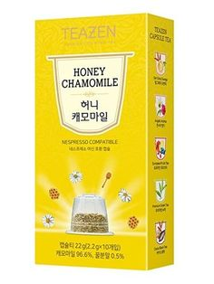 TEAZEN Honey Chamomile Capsule Tea for Nespresso Machine (10-Count Box ) •COMPATIBILITY •EASY TO DRINK •DEEP AND RICH FLAVOR •ALWAYS SAME FLAVOR AND FRAGRANCE •ENJOY COOL ICED TEA ALL YEAR  #tea #capsule #Nespresso #drinkingtea #aroma #flavor #fragrance #cool #korean #koreanproduct