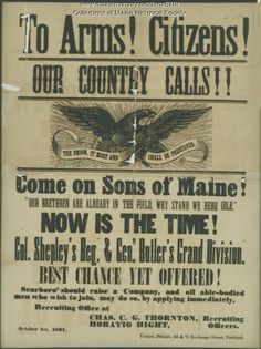 Civil War recruiting broadside, 1861