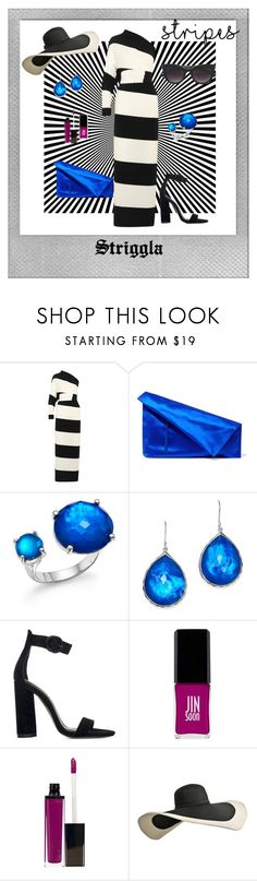 """Stripes"" by striggla ❤ liked on Polyvore featuring Polaroid, Norma Kamali, Diane Von Furstenberg, Ippolita, Kendall + Kylie, JINsoon, Laura Mercier, Dolce&Gabbana, stripes and stylish"
