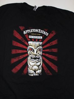 APPLETON ESTATE RESERVE RUM SINCE 1749 TIKI T-SHIRT-EXTRA LARGE XL #AmericanApparel #GraphicTee