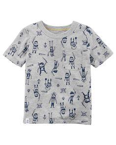 Toddler Boy Pirate Print Pocket Tee | Carters.com