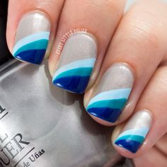 march nail art | March Nail Art Challenge: Gradient & Aussie Nails Monday: Stripes