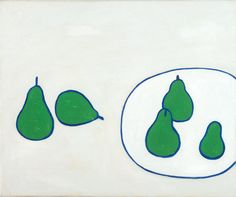 William Scott, Still Life, Pears, 1977, Oil on canvas, 40.5 × 50.5 cm / 16 × 20 in, Private collection