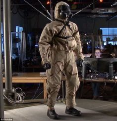 The US Army's newest recruit: Scarily lifelike robot created to test military's chemical warfare clothing