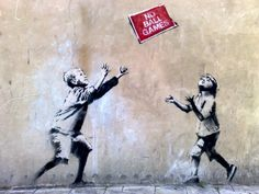 Banksy children kids graffiti street art
