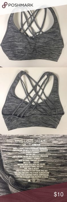 NWOT Aeropostale Activewear Strappy Sports Bra This gorgeous Live Love Dream by Aeropostale strappy back sports bra is NEW without tags and has never been worn. Designed with built in pockets for removable cups. Removable cups included! Size Small. True to size. The color is grey. Last picture in this listing is shown only for reference. Aeropostale Intimates & Sleepwear Bras