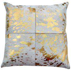 Canaan Gold Hide Throw Pillow
