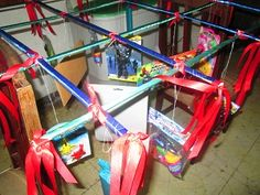 """One of the great and fun children party games that I have experienced during my visit in the Philippines is called the """"Pabitin"""". Kids Party Games, Games For Kids, Children Games, Diy Hair Bows, Diy Bow, Baby Party, Childrens Party, Princess Party, Party Planning"""